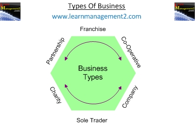 Types of business from sole traders to companies diagram showing different types of business ccuart Images